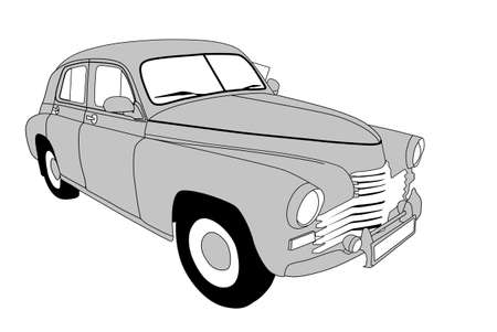 retro car on white background, vector illustration Vector