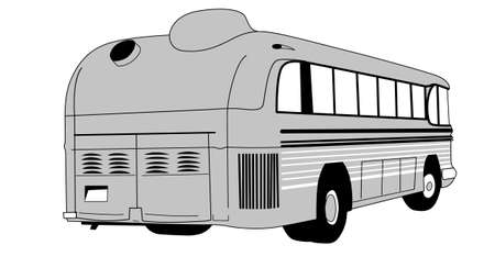 retro bus on white background Vector
