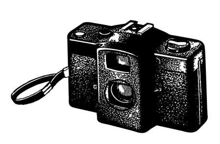 retro camera on white background, vector illustration Stock Vector - 11856329