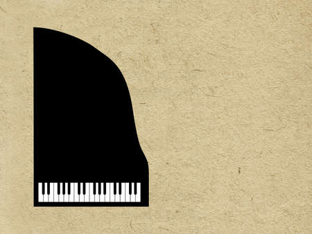 piano on grunge background photo