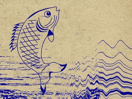 fish on grunge background photo