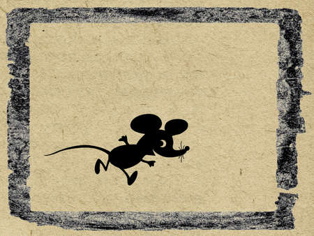mouse on  grunge background Stock Photo - 12015997