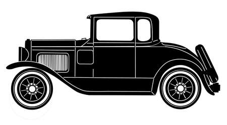 retro car on white background Vector