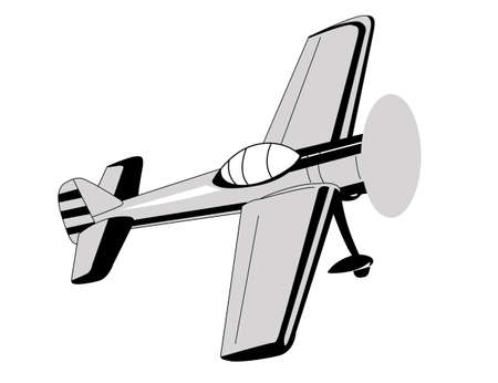 plane drawing on white background Vector