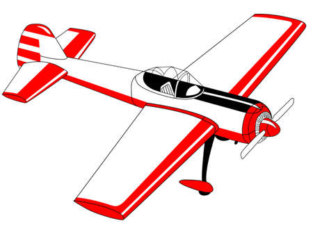 glider: plane drawing on white background