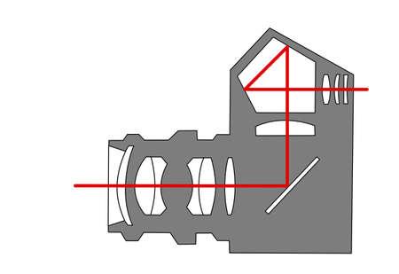 scheme SLR camera on white background Stock Vector - 12043930