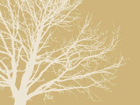 dirt texture: albero silhouette su sfondo marrone