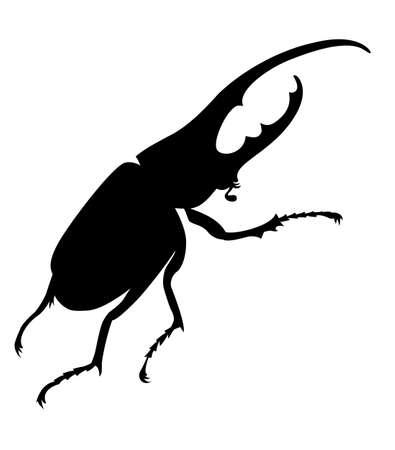 bug silhouette on white background, vector illustration Vector