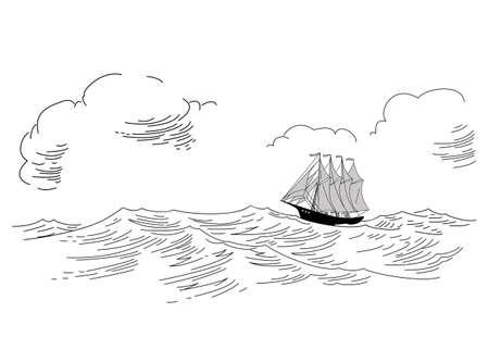 rope ladder: silueta de pez vela en la ilustraci�n vectorial de fondo blanco,