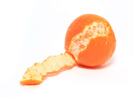 sours: orange tangerine on white background Stock Photo