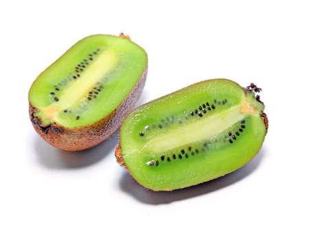 cuisines: kiwi on white background