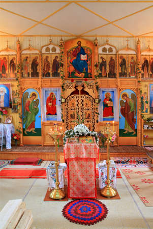 interior rural orthodox christian church