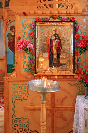 interior rural orthodox christian church