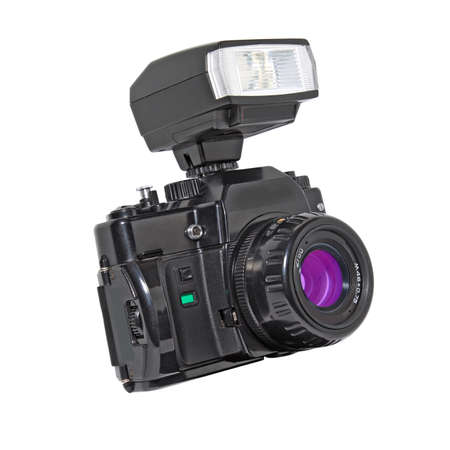 aging camera on white background Stock Photo - 12247460