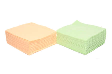 napkins on white background photo