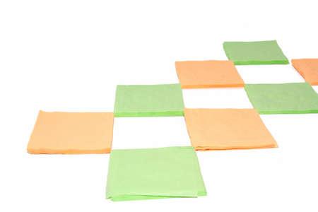 napkins on white background Stock Photo - 12247560