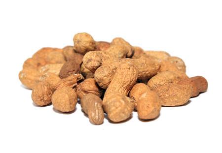 peanuts on white background Stock Photo - 12247470
