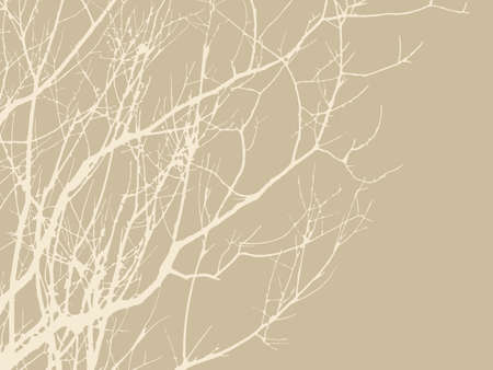 wood branches on brown background, vector illustration Vector