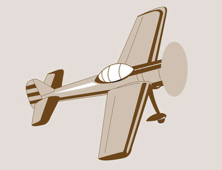 plane drawing on brown  background, vector illustration Vector