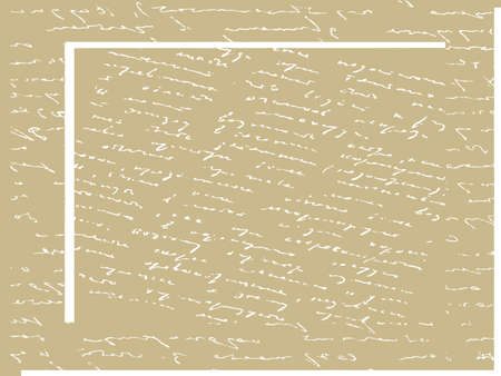 spoiled frame: handwritten text on old paper, vector illustration Illustration