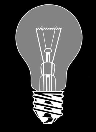 lampe:  light bulb on black background, vector illustration Illustration