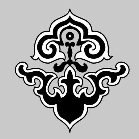 ornament on gray background, vector illustration Vector