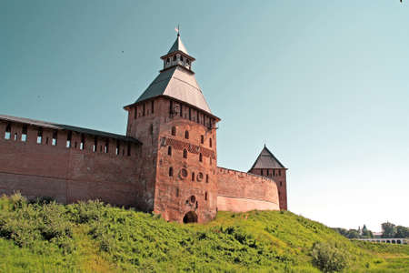 novgorod: tower to old fortress