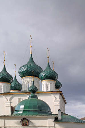 christian orthodox church on cloudy background Stock Photo - 12881086