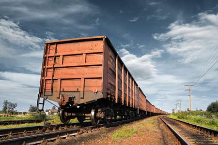 cargo railway coach Stock Photo - 13022095
