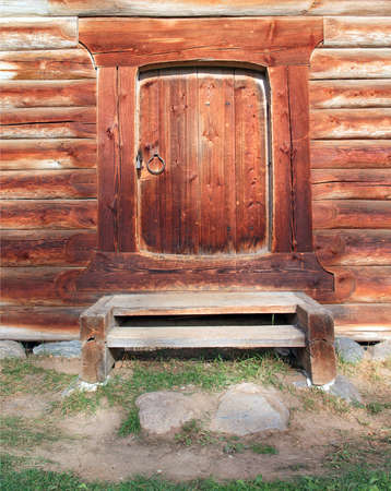 door in old wooden house