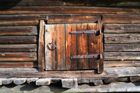 wooden door in rural barn photo