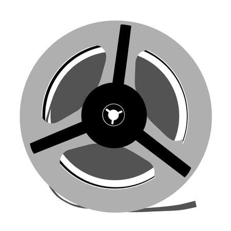 aging tape reel on white background, vector illustration Stock Vector - 13032386