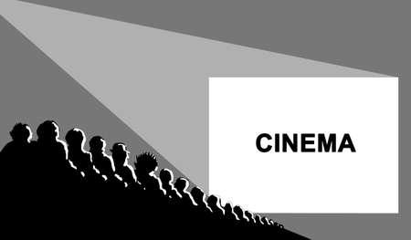 easy chair: cinema, vector illustration Illustration