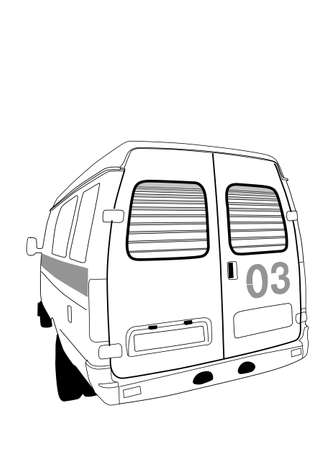 car to ambulance on white background, vector illustration Stock Vector - 13033230