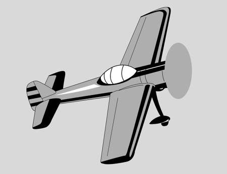 plane drawing on gray  background, vector illustration Vector