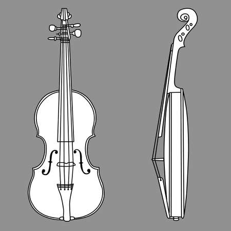 violin silhouette on gray background, vector illustration Stock Vector - 13033309