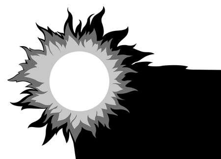 sun on white background, vector illustration Vector