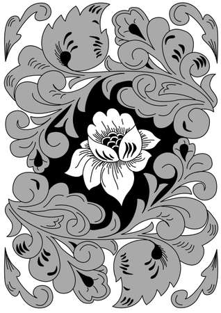 floral ornament on white background, vector illustration Vector