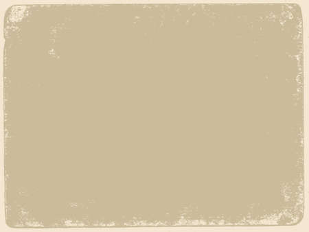 spoiled frame: aging paper texture, vector illustration