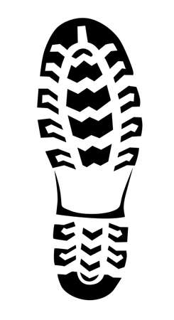 boot trace on white background, vector illustration Vetores