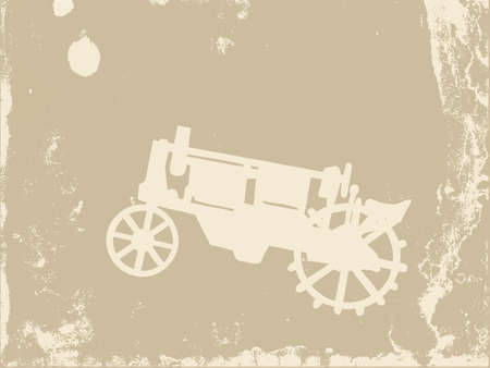 old tractor: oude tractor op grunge achtergrond