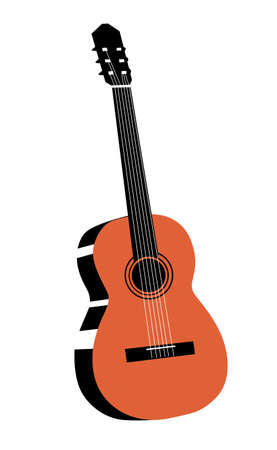 guitar drawing on white background Vector