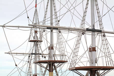 ship masts on cloudy background Stock Photo - 15816029