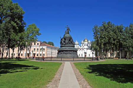 novgorod: monument of the millennium to Russia in Great Novgorod
