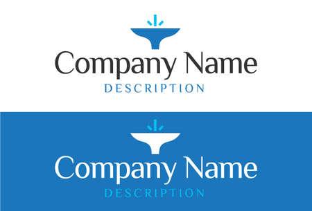 wares: Water logo. Aqua logo. Wellness logo. spa logo. Mineral natural water logo. Waves logo, bathroom accessories, sanitary wares