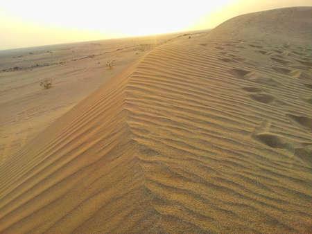 ksa: sunset in the desert