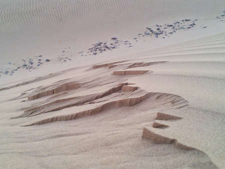 ksa: foot imprint on the sand dune