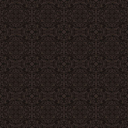 gold brown: Brown floral texture Illustration
