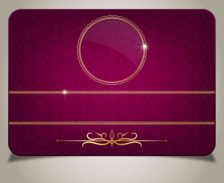 Purple gift card Illustration