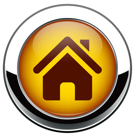 Metalic home icon Vector